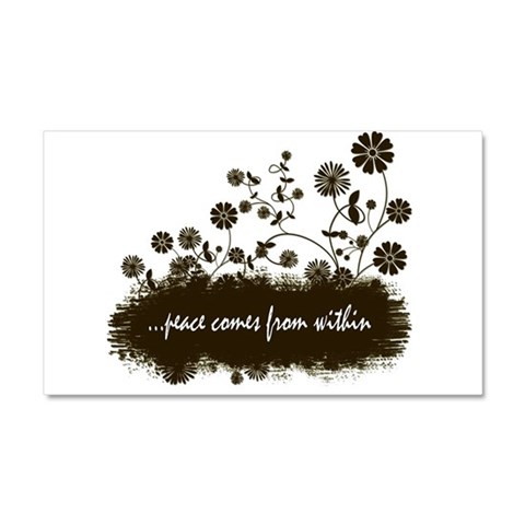 ...peace comes  Peace Car Magnet 20 x 12 by CafePress