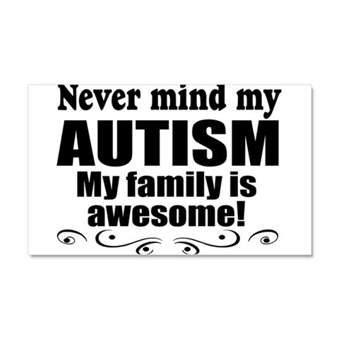 Awesome autism family  Health Car Magnet 20 x 12 by CafePress
