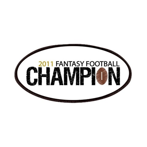 2011 Fantasy Football Champ  Sports Patches by CafePress