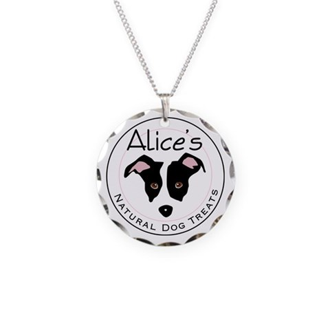 Alice  Dog Necklace Circle Charm by CafePress