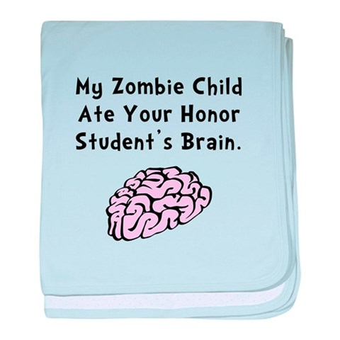 Zombie Child  Funny baby blanket by CafePress