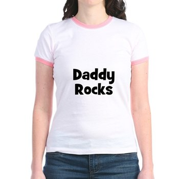 Daddy Rocks Ringer T-Shirt