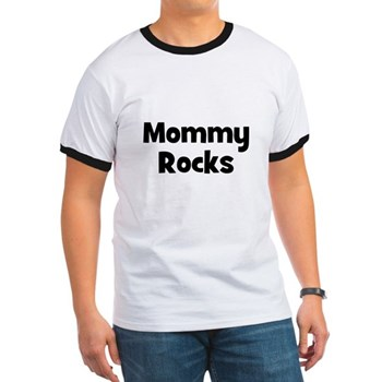 Mommy Rocks Men's Ringer Tee