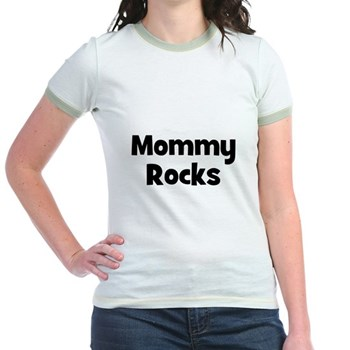 Mommy Rocks Ringer T-Shirt