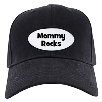 Mommy Rocks Black Cap