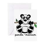 Panda-monium Greeting Cards