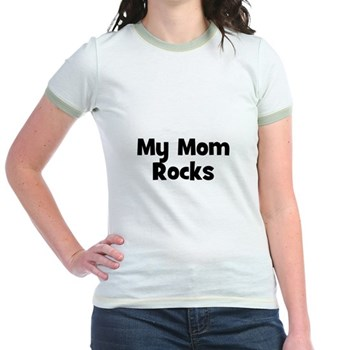 My Mom Rocks Ringer T-Shirt