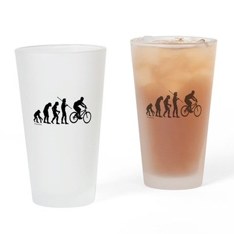 Bike Evolution  Funny Drinking Glass by CafePress