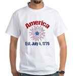 July 4th Fireworks White T-Shirt