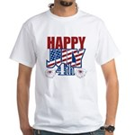 Happy July 4th White T-Shirt