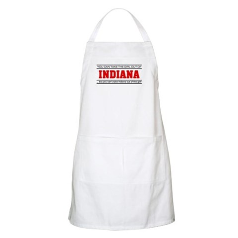 'Girl From Indiana'  I love Apron by CafePress