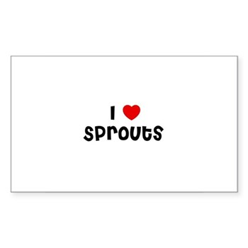 I Love Sprouts Sticker