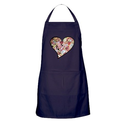 A Song in My Heart  Music Apron dark by CafePress