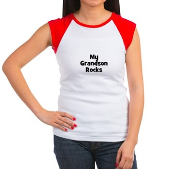 My Grandson Rocks Women's Cap Sleeve T-Shirt