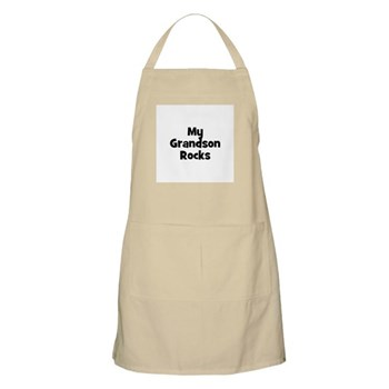 My Grandson Rocks BBQ Apron
