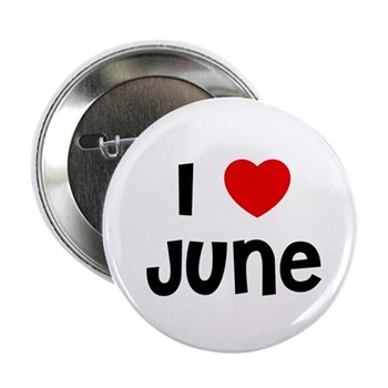 I Love  June Button