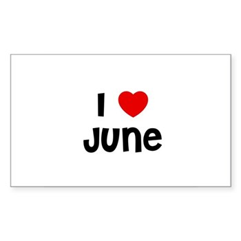 I Love  June Sticker