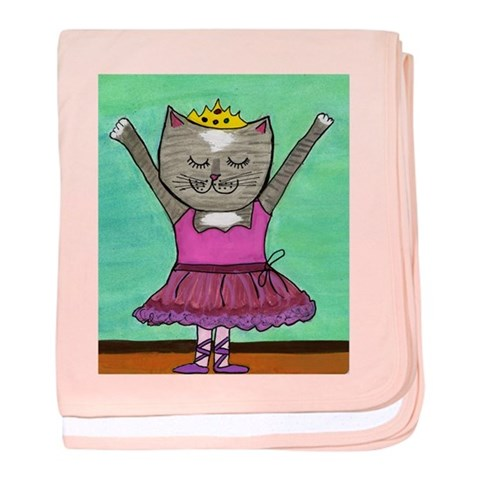 Cat baby blanket by CafePress