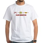 Bacon Burger Dog White T-Shirt