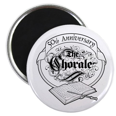 50th Anniversary   2.25 Magnet 100 pack by CafePress