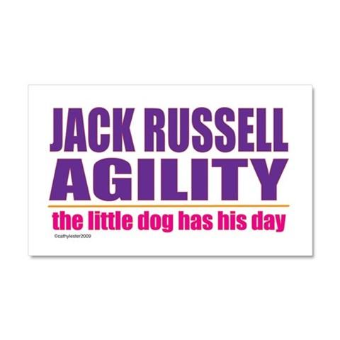 Jack Russell Agility  Pets Car Magnet 20 x 12 by CafePress