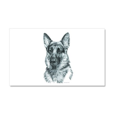 German Shepherd  Pets Car Magnet 20 x 12 by CafePress
