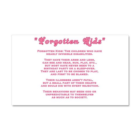 Kids Special Needs  Autism Car Magnet 20 x 12 by CafePress