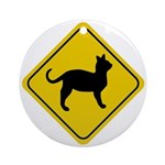 Cat Crossing Sign Ornament