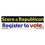 Scare a Republican - Vote Bumper Sticker