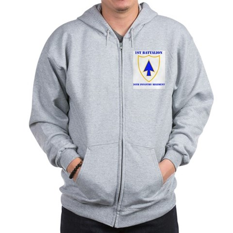DUI - 1st Bn - 26th Infantry Regt with Text Zip Ho Military Zip Hoodie by CafePress
