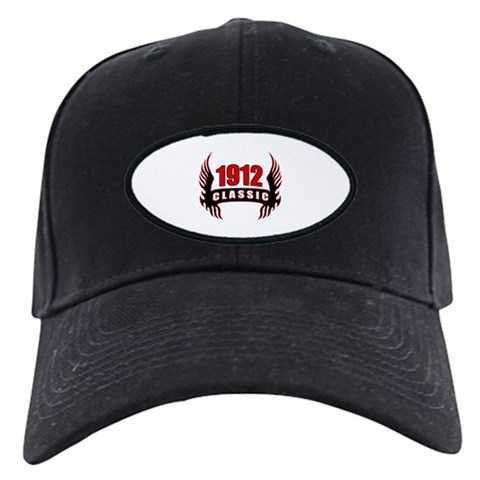 1912 Classic Wings  Funny Black Cap by CafePress
