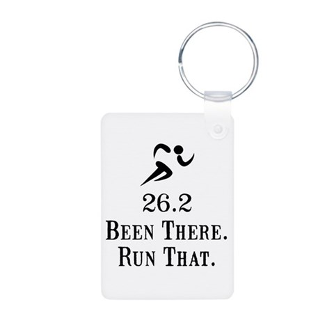 26.2 Been There Run That  Funny Aluminum Photo Keychain by CafePress