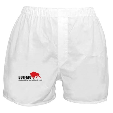 4 Years in Buffalo  Sports Boxer Shorts by CafePress