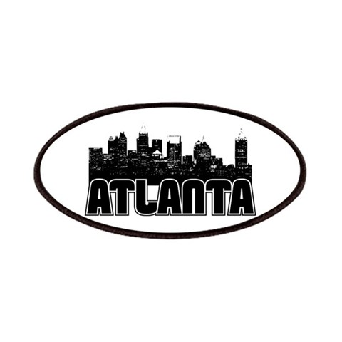 Atlanta Skyline  Places Patches by CafePress