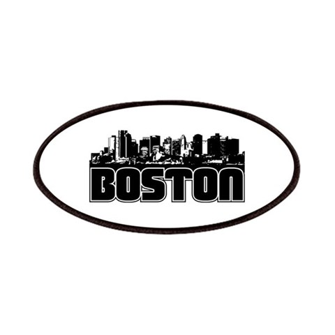 Boston Skyline  Places Patches by CafePress