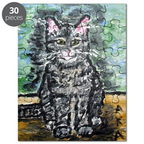 : Art by Anne K Abbott Funny Puzzle by CafePress