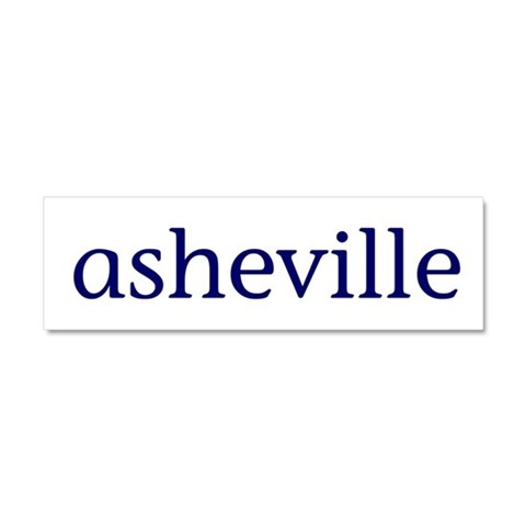 Asheville  North carolina Car Magnet 10 x 3 by CafePress