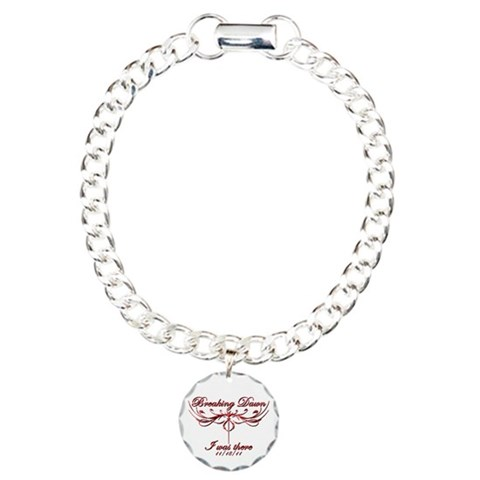 Breaking Dawn I was there 11/18/11 Charm Bracelet, Twilight Charm Bracelet, One Charm by CafePress