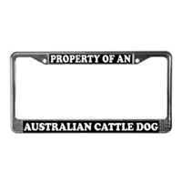 Australian Cattle Dog License Plate Frames