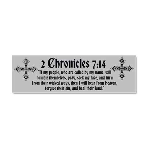 2 Chr 7:14 Kreuz -   Car Magnet 10 x 3 by CafePress