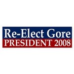 Re-Elect Gore 2008 bumper sticker