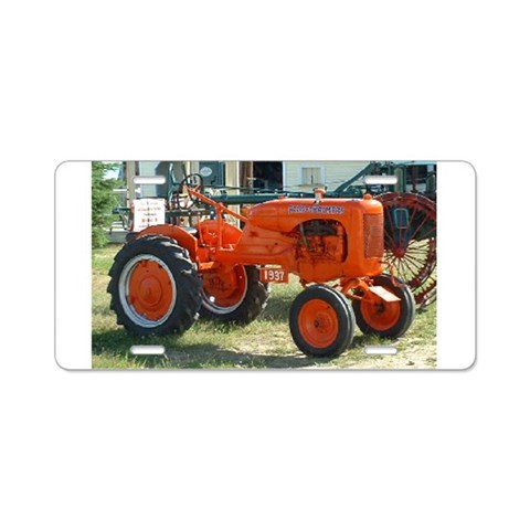1937 Allis Chalmer Tractor  Unique Aluminum License Plate by CafePress