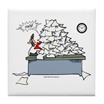 Tile coaster for the social worker who's buried in paperwork!