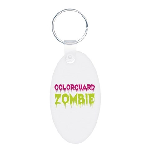 Colorguard Zombie  Music Aluminum Oval Keychain by CafePress