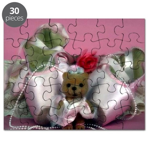 Ballet Slippers with Teddy Bear  Dance Puzzle by CafePress