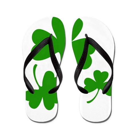 3 Shamrocks  Funny Flip Flops by CafePress