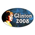 Clinton 2008 Oval Bumper Sticker