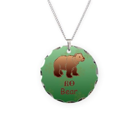 Cherokee Baby Bear  Holiday Necklace Circle Charm by CafePress