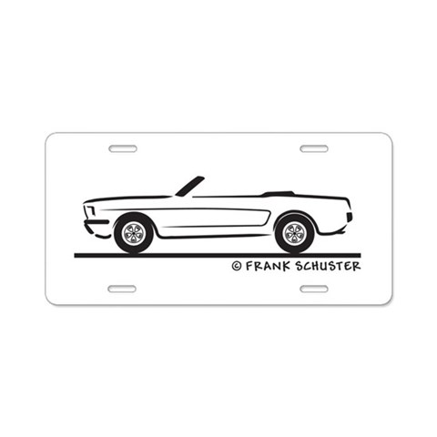 1965 Mustang Convertible  Hobbies Aluminum License Plate by CafePress