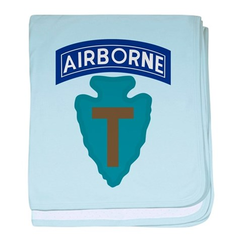71st Airborne Bde  Military baby blanket by CafePress